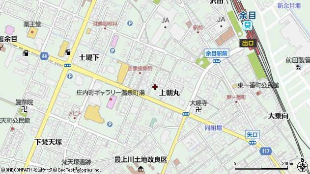山形県東田川郡庄内町余目上朝丸74周辺の地図