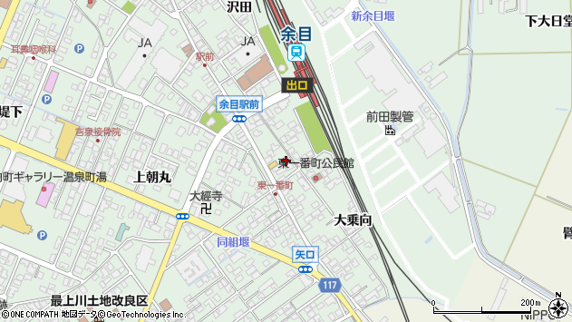 山形県東田川郡庄内町余目沢田122周辺の地図