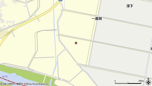 山形県酒田市黒森一番割周辺の地図