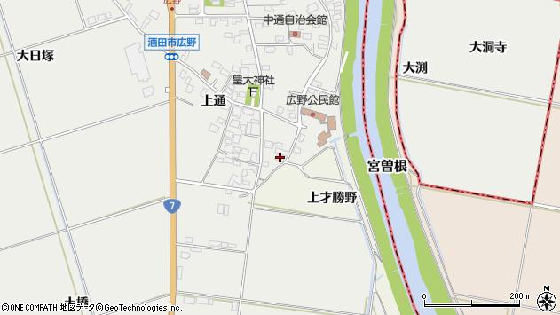 山形県酒田市広野上通47周辺の地図