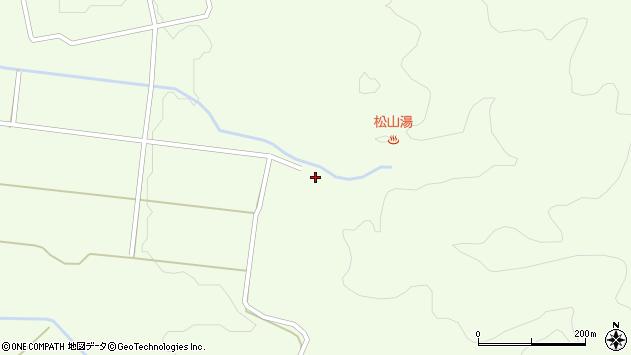 山形県酒田市山寺上野原周辺の地図