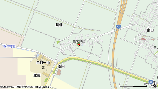 山形県東田川郡庄内町余目長畑20周辺の地図