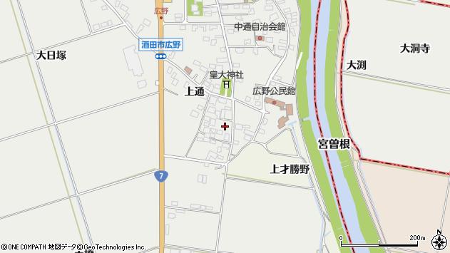 山形県酒田市広野上通91周辺の地図