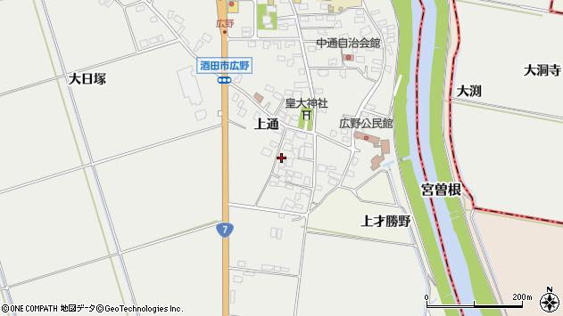 山形県酒田市広野上通94周辺の地図