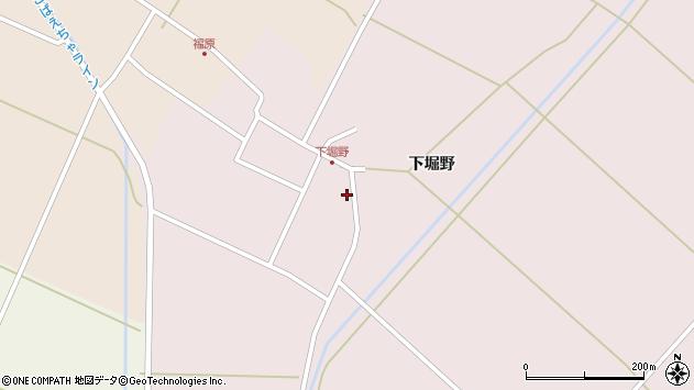 山形県東田川郡庄内町堀野下堀野周辺の地図