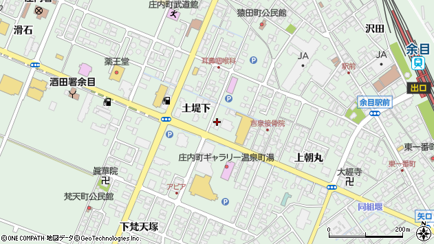 山形県東田川郡庄内町余目土堤下30周辺の地図