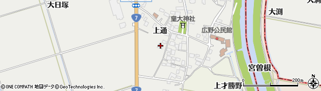 山形県酒田市広野上通101周辺の地図