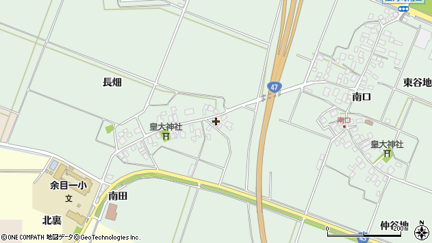 山形県東田川郡庄内町余目長畑6周辺の地図