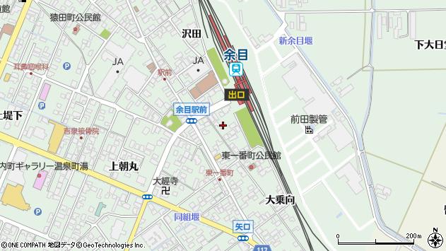 山形県東田川郡庄内町余目沢田116周辺の地図