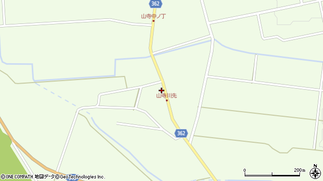 山形県酒田市山寺宅地49周辺の地図
