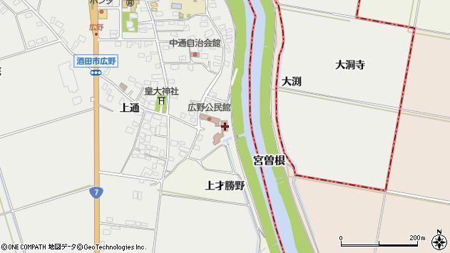 山形県酒田市広野上通249周辺の地図