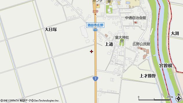 山形県酒田市広野土橋112周辺の地図