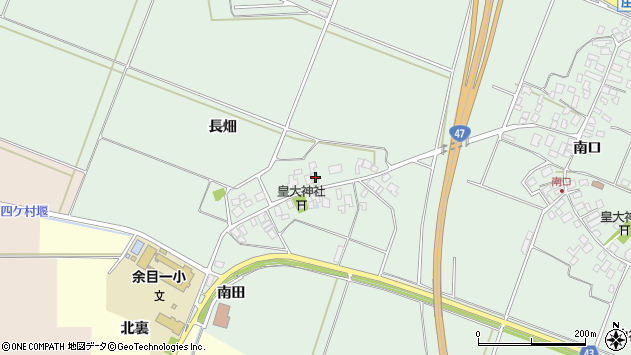 山形県東田川郡庄内町余目長畑53周辺の地図