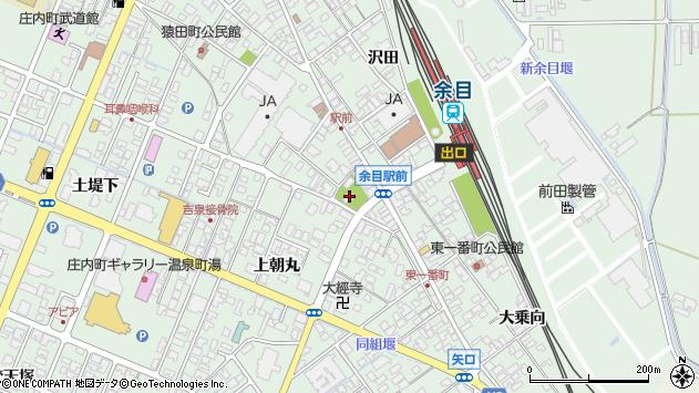 山形県東田川郡庄内町余目上朝丸周辺の地図