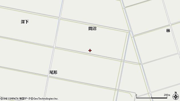 山形県酒田市広野間沼周辺の地図