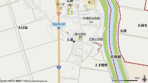 山形県酒田市広野上通98周辺の地図