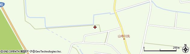 山形県酒田市山寺横町周辺の地図