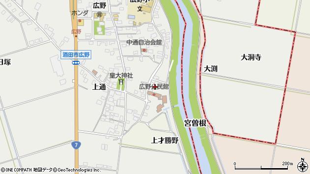山形県酒田市広野上通230周辺の地図