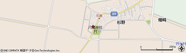 山形県東田川郡庄内町杉浦杉野3周辺の地図