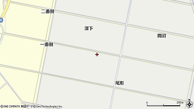 山形県酒田市広野尾形周辺の地図