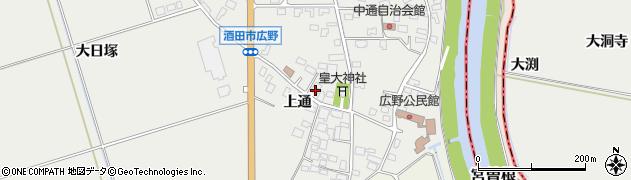 山形県酒田市広野上通129周辺の地図