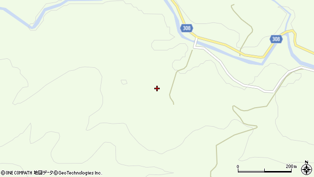 山形県最上郡鮭川村曲川513周辺の地図