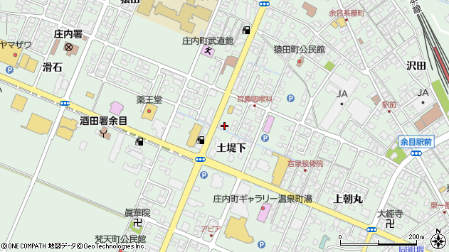 山形県東田川郡庄内町余目土堤下20周辺の地図
