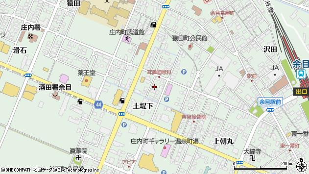山形県東田川郡庄内町余目土堤下18周辺の地図