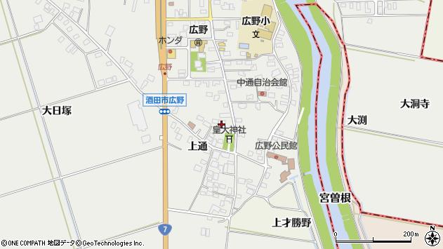 山形県酒田市広野上通132周辺の地図