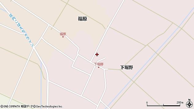 山形県東田川郡庄内町堀野下堀野66周辺の地図
