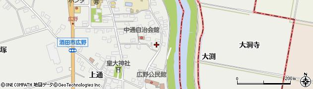 山形県酒田市広野中通1周辺の地図