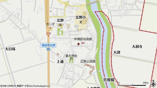 山形県酒田市広野中通5周辺の地図