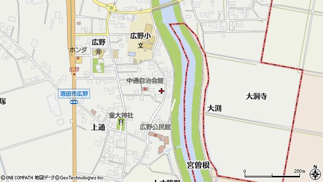 山形県酒田市広野中通2周辺の地図