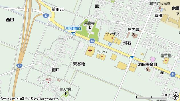 山形県東田川郡庄内町余目滑石64周辺の地図