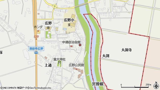 山形県酒田市広野中通17周辺の地図