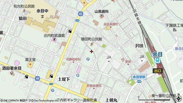 山形県東田川郡庄内町余目土堤下8周辺の地図