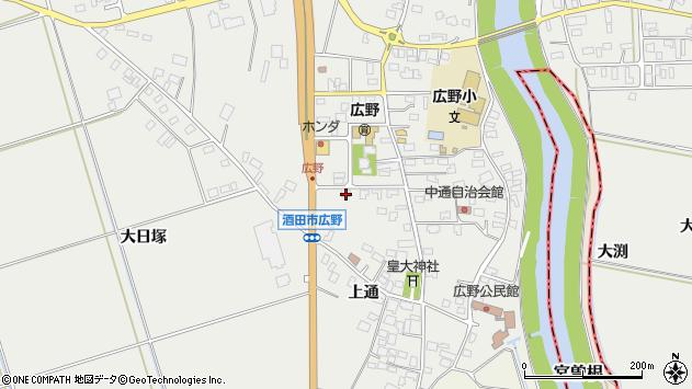 山形県酒田市広野上通140周辺の地図