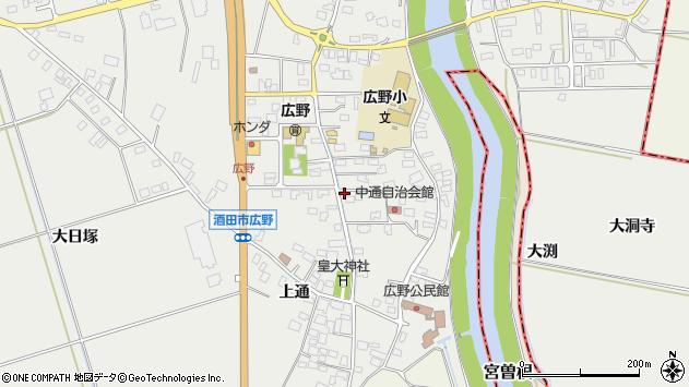 山形県酒田市広野中通11周辺の地図
