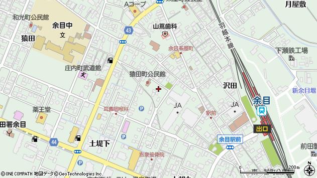 山形県東田川郡庄内町余目土堤下2周辺の地図