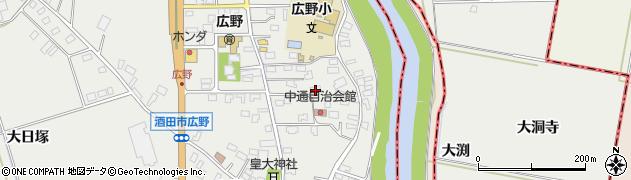 山形県酒田市広野中通14周辺の地図