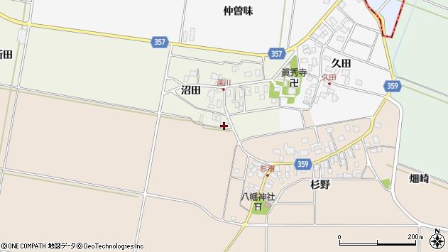 山形県東田川郡庄内町深川沼田19周辺の地図