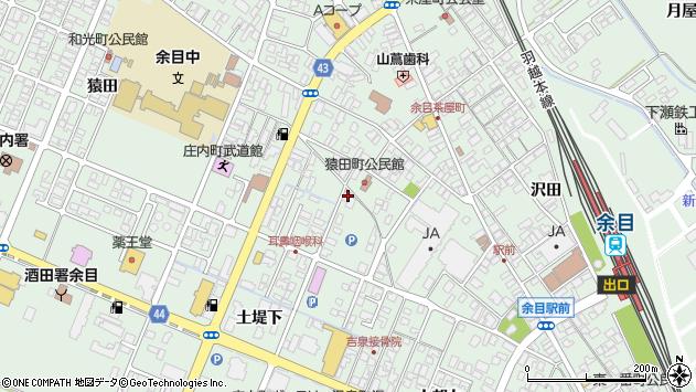 山形県東田川郡庄内町余目土堤下7周辺の地図