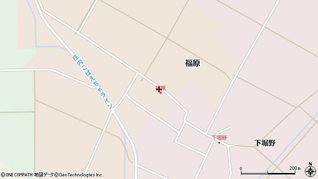 山形県東田川郡庄内町福原石蔵9周辺の地図