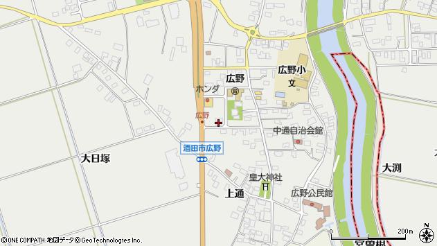山形県酒田市広野中通29周辺の地図