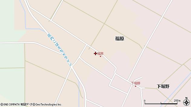 山形県東田川郡庄内町福原石蔵11周辺の地図