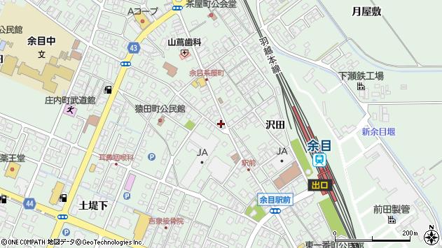 山形県東田川郡庄内町余目三人谷地1周辺の地図
