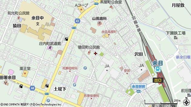 山形県東田川郡庄内町余目土堤下3周辺の地図
