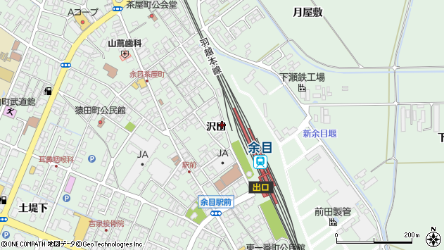 山形県東田川郡庄内町余目沢田104周辺の地図