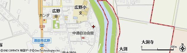 山形県酒田市広野中通144周辺の地図