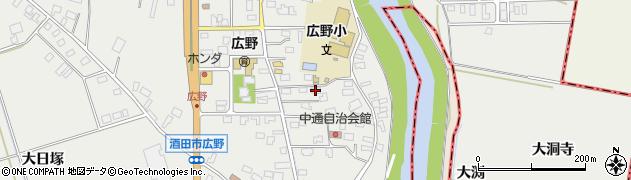 山形県酒田市広野中通21周辺の地図